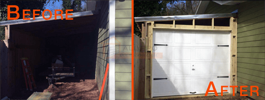 Before and After of work provided by All Pro Door Services LLC